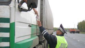 Водителей большегрузов начнут штрафовать за отсутствие тахографов