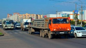 С 19 декабря в Красноярске введут новую схему движения для грузовых автомобилей